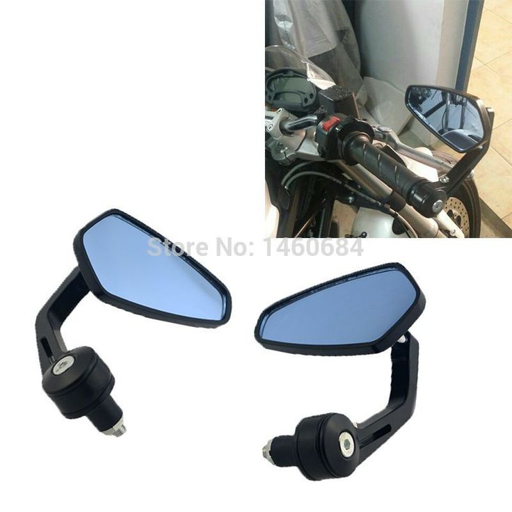 """Big discount US $18.89  1 Pair Motorcycle End Bar Side Mirror 7/8"""" Angle Adjustable Rearview Mirrors For Suzuki Bandit 400 600 For Ducati Monster   #Pair #Motorcycle #Side #Mirror #Angle #Adjustable #Rearview #Mirrors #Suzuki #Bandit #Ducati #Monster  #Internet"""