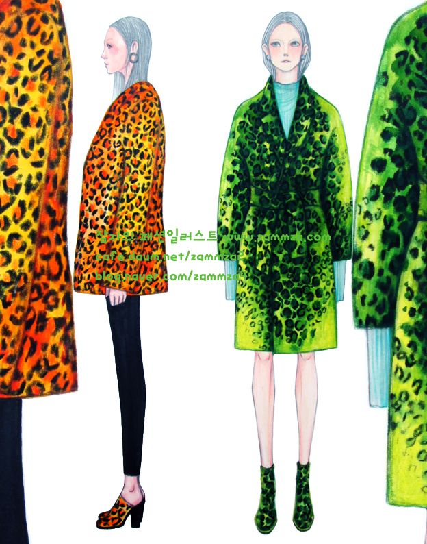 Leopard Pattern ♥ watercolor+marker+colorpencil ♥ zammza fashion illustration ♥ instagram.com/zammza