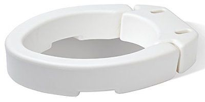 Carex Health Brands Elongated Hinged Toilet Seat Riser New