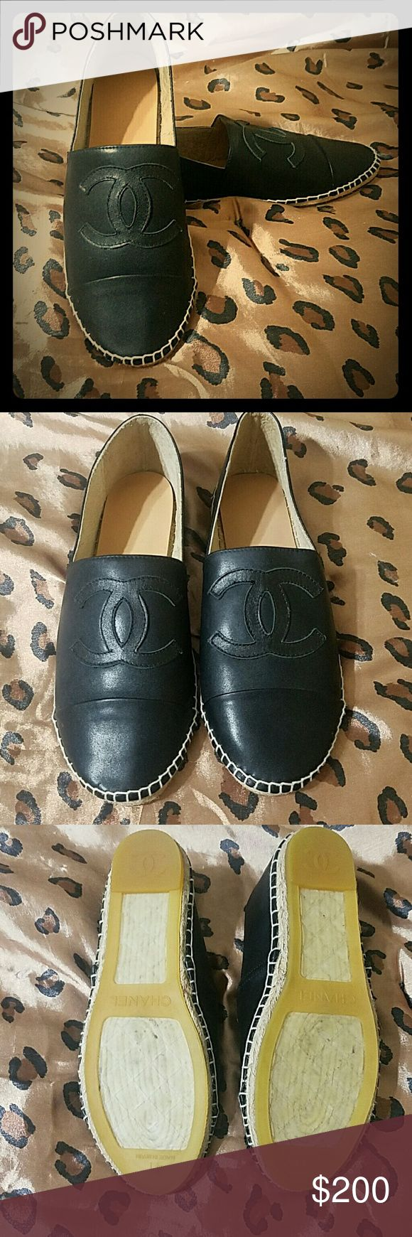 Chanel espadrilles Too big for me. Never worn only tried on.  Would best fit 9-9.5.  Price reflects. CHANEL Shoes Espadrilles