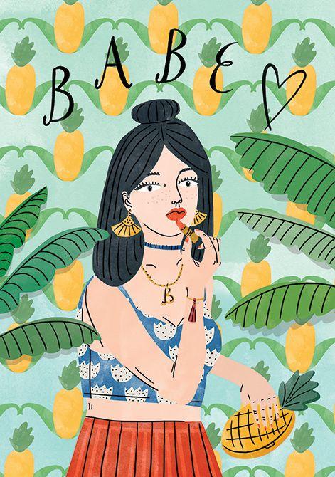 WRAP postcard, illustration by Bodil Jane