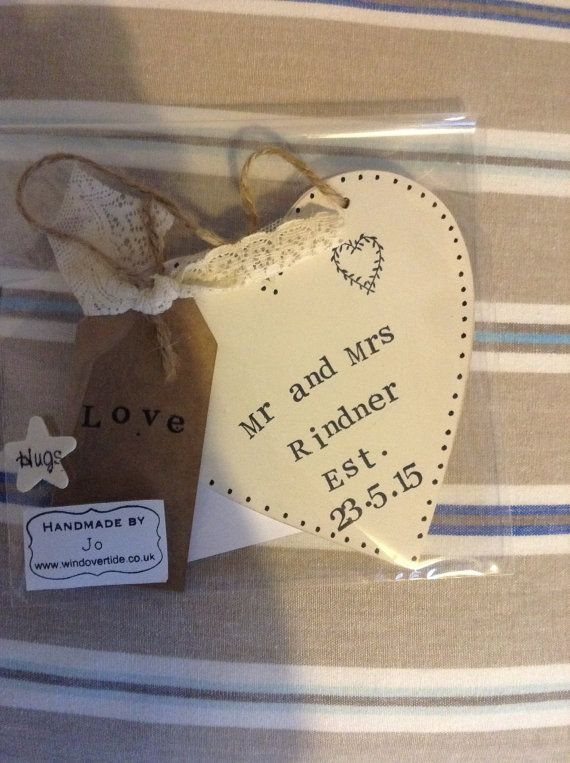 Personalised Mr and Mrs Hanging Heart with Lace by Windovertide