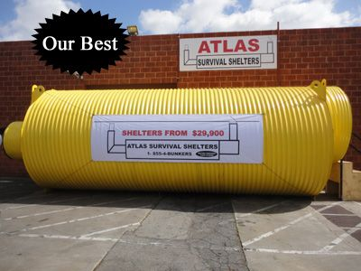 Atlas Survival Shelters: This company makes underground survival shelters. Check it out!