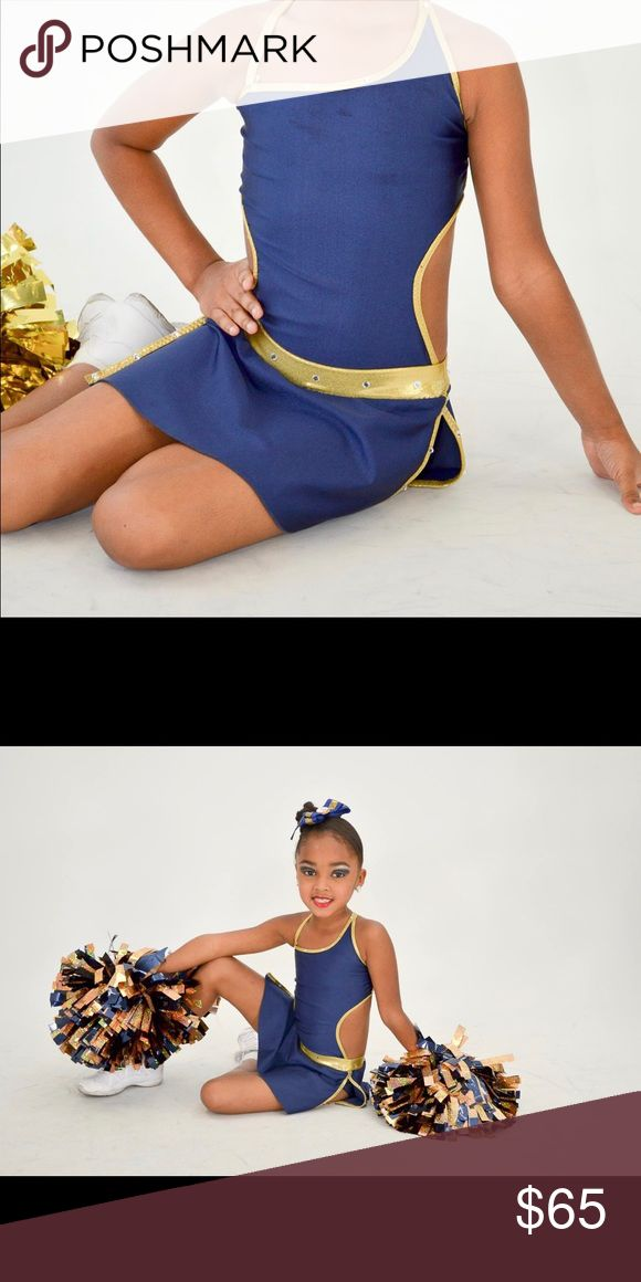 Cheerleader performance costume Adorable uniform costume my daughter wore once when she performed half time at Florida International University (FIU)..it is in wonderful EXCELLENT LIKE NEW condition. The Royal Blue and Gold is a show stopper Custom Made Costumes Dance