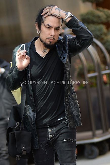 Dave Navarro leaving a SoHo Hotel in New York, March 2016Photo by Kristin Callahan