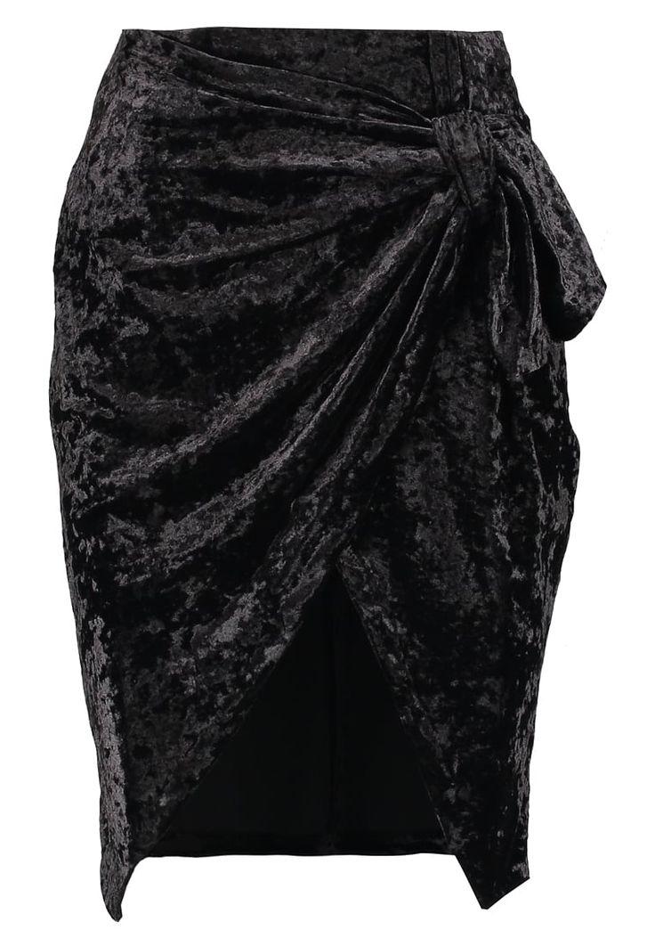 Glamorous Petite KNOTTED SKIRT - Falda de tubo - black - Zalando.es