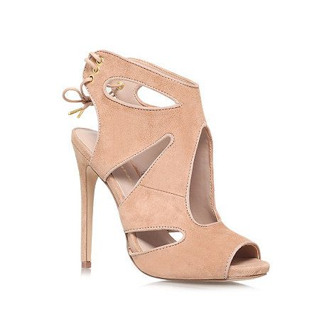 KG Kurt Geiger Nude 'Hattie' high heeled courts- at Debenhams.com