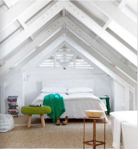 Blanc et vert dans la chambre / White and green in bedroom