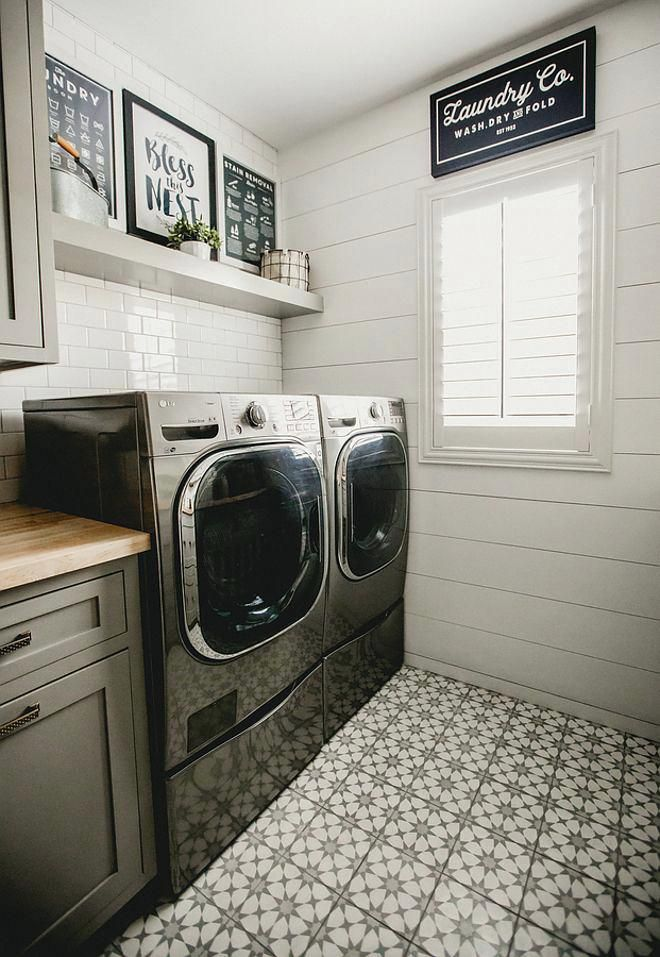 Laundry Room Floor Ideas Subway Tile And In Laundry Room Basement