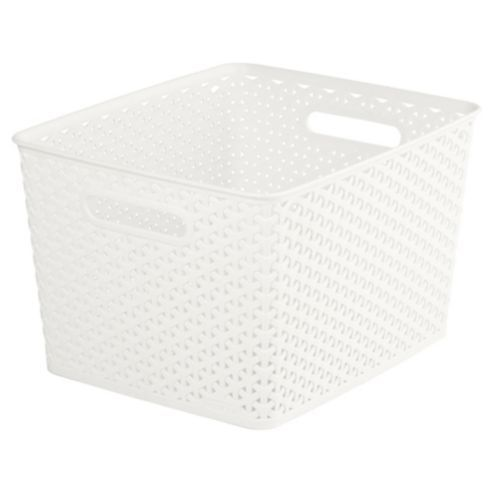 curver my style 18 litre large storage box cream 5 from. Black Bedroom Furniture Sets. Home Design Ideas
