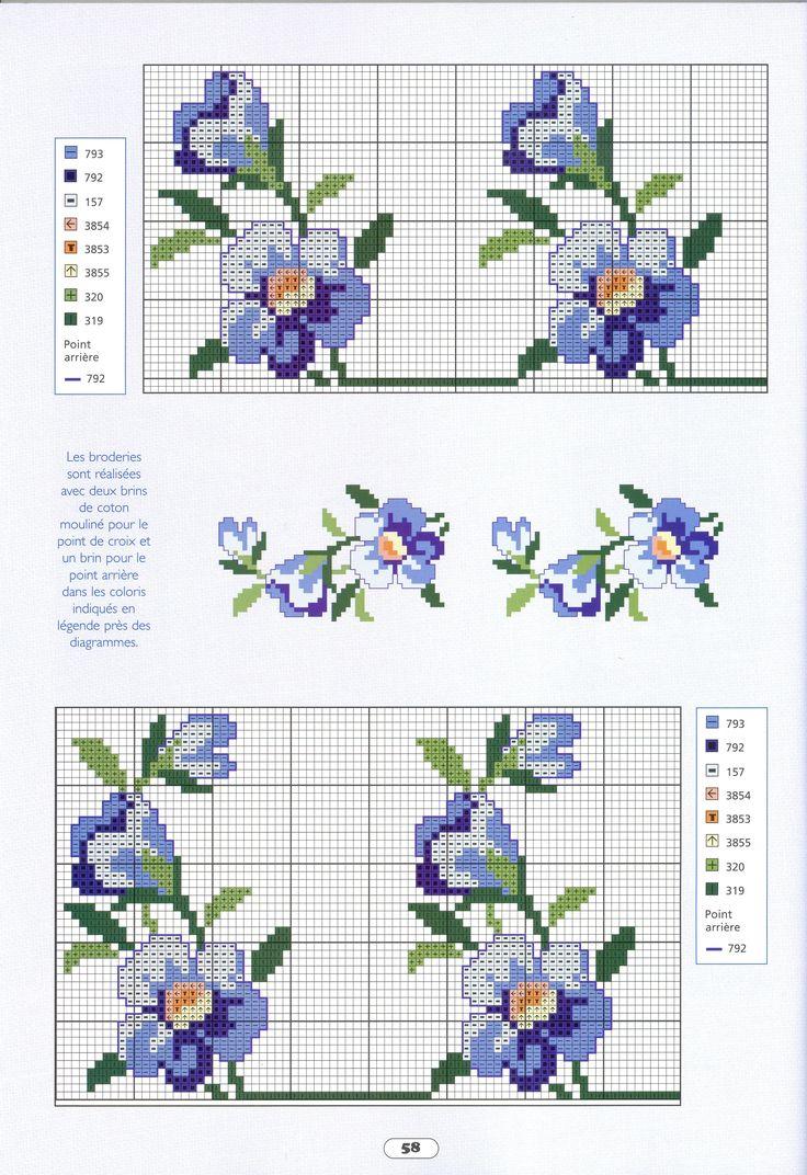 ponto-cruz-flores-punto-de-croce-fleur-7-500x400 78 gráficos de flores em ponto cruz para imprimir