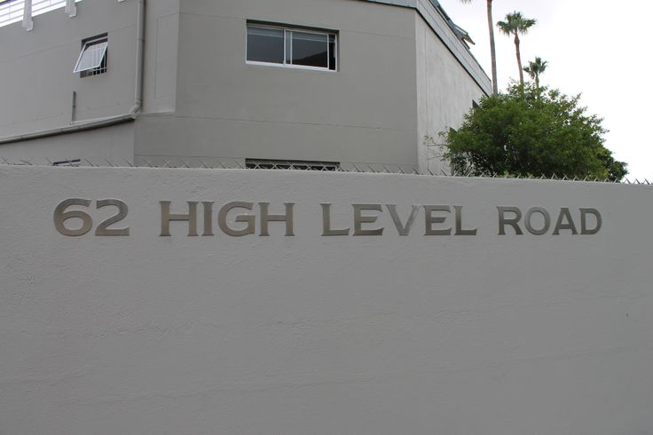 Stainless Steel Sign, Grade 304 with brushed finish and mounted with Mounting Studs.