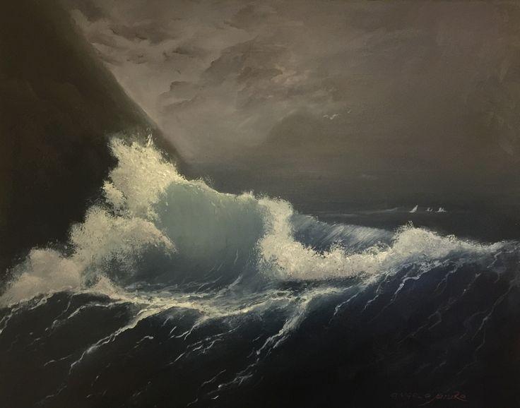 Морской пейзаж масло