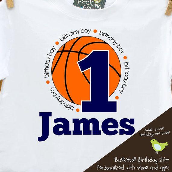 birthday boy basketball shirt customized with by zoeysattic, $16.50