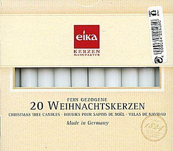 Eika Weihnachtsbaumkerzen weiss (Christmas Tree Candles White) 20pcs.