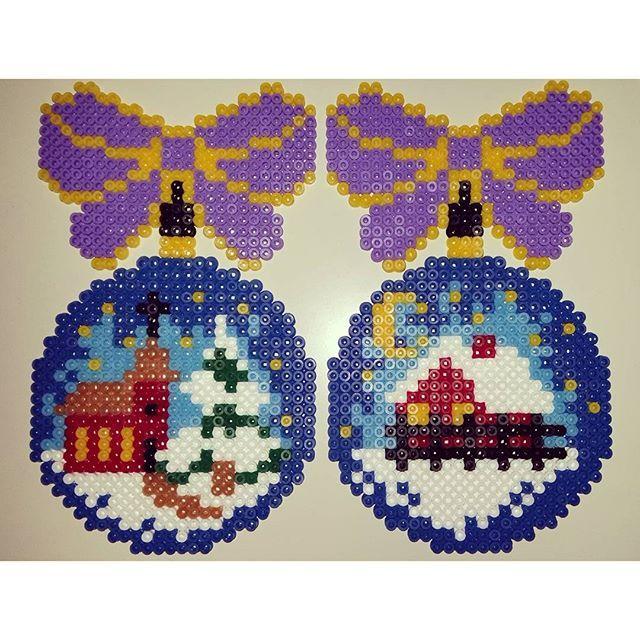 Christmas ornament hama beads by heidimertz                                                                                                                                                                                 More