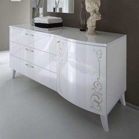 les 25 meilleures id es concernant commode laqu blanc sur. Black Bedroom Furniture Sets. Home Design Ideas