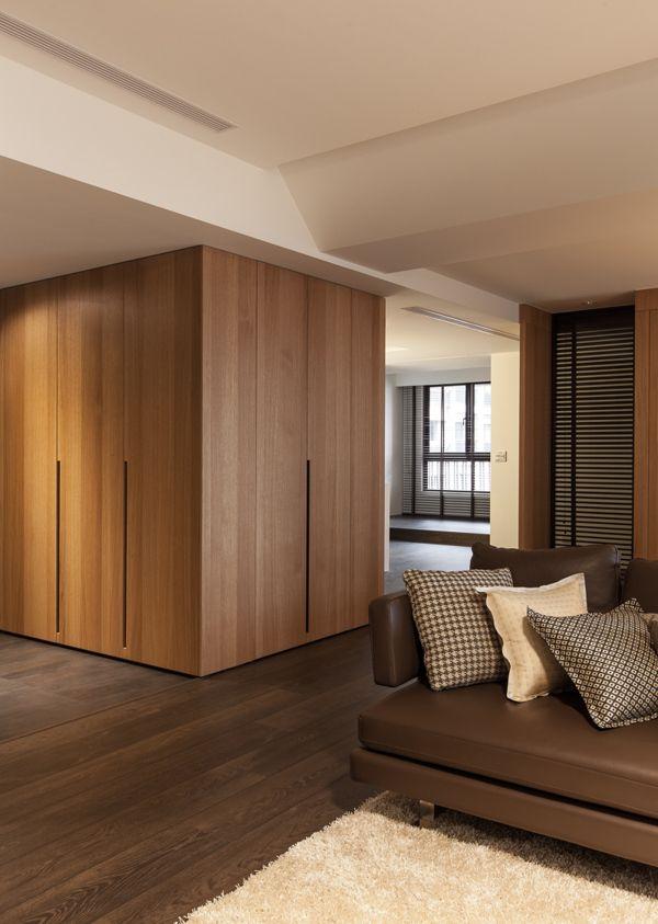 otra forma de colocar armarios y aprovechar espacio