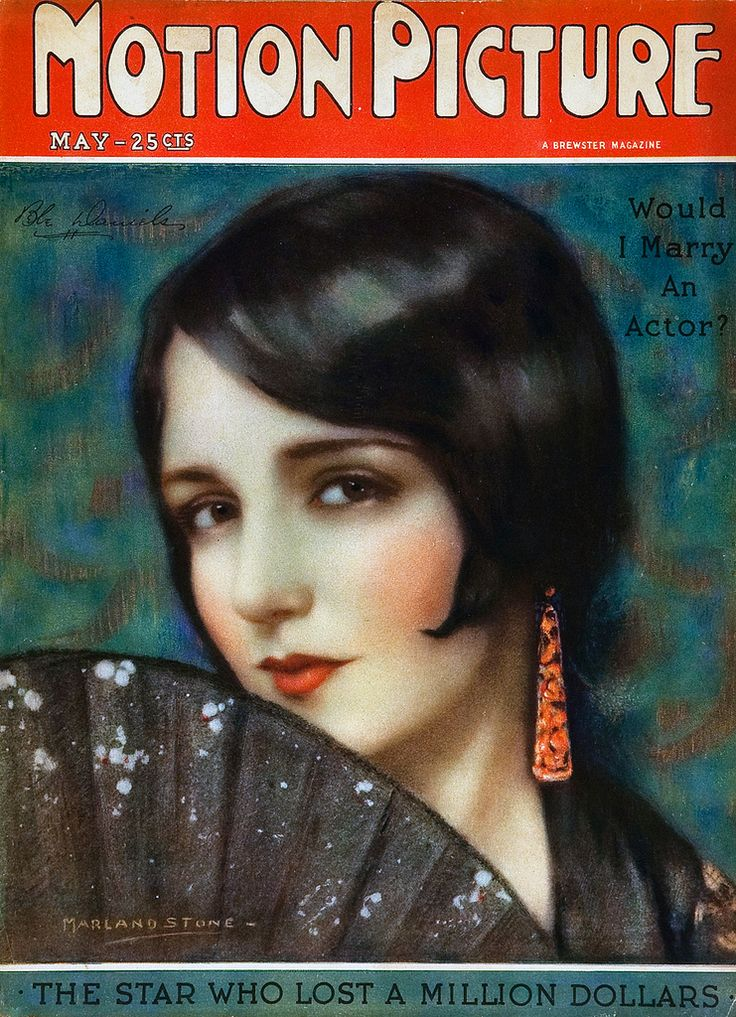 Bebe Daniels  May 1926 Motion Picture magazine illustration by Marland Stone