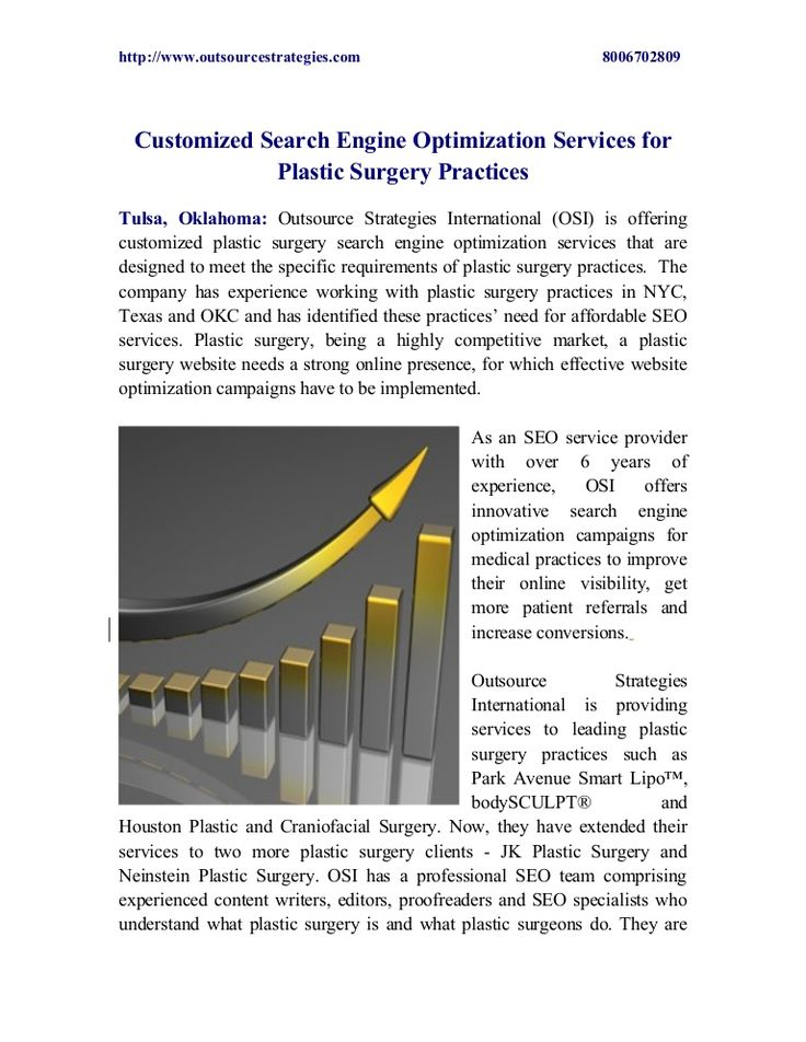 Customized Search Engine Optimization Services for Plastic Surgery