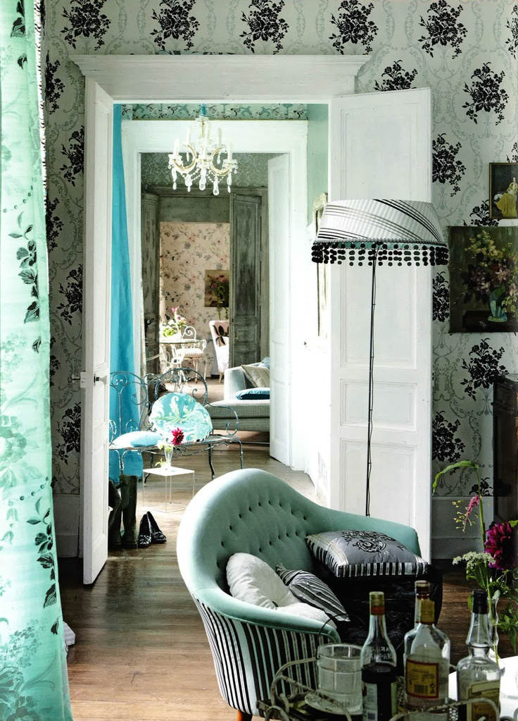 Stunning assortment of prints and textures all in Pale Jade hues