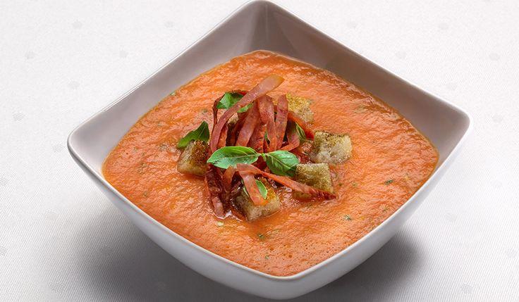 Supă rece de roșii și Sissi șuncă de porc