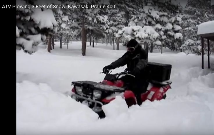 Plastic Snow Blade Kawasaki Prairir