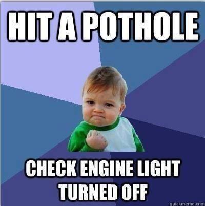Hit a pothole, check engine light turned off #TrailJeeps #Fourwheeling #JeepLife
