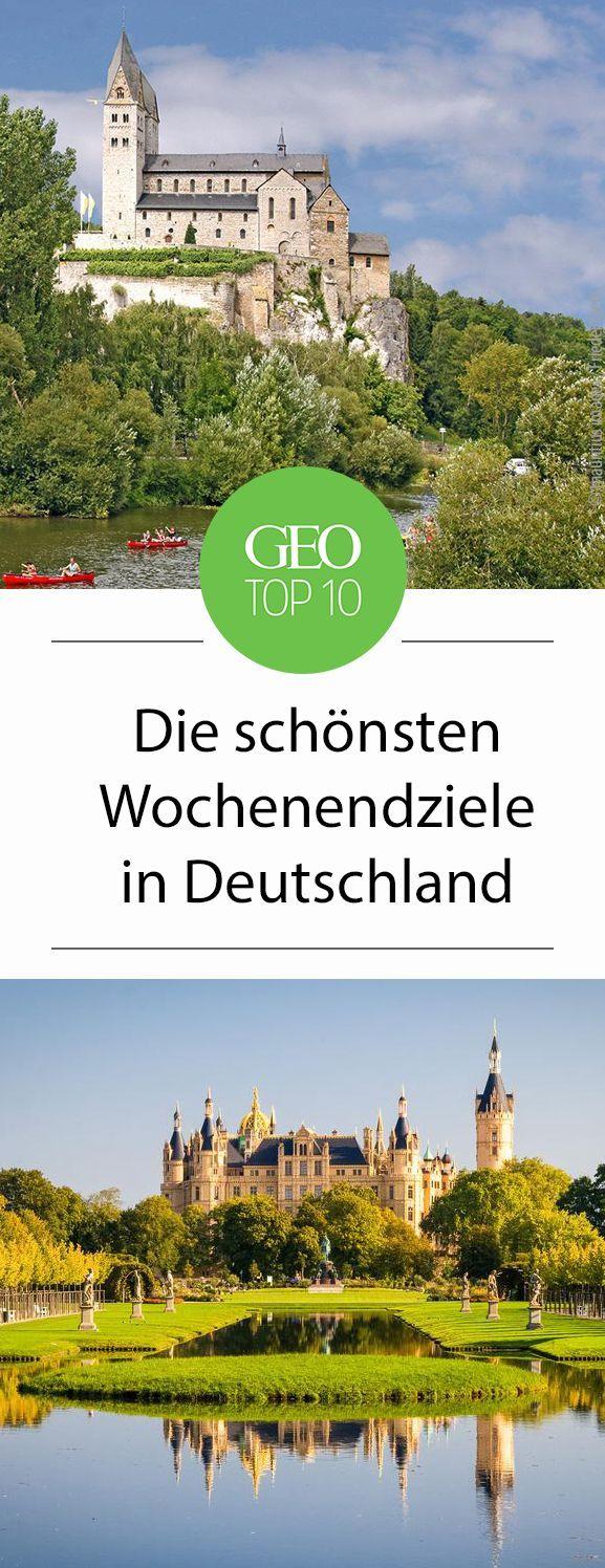 Wochenendziele in Deutschland Die Top Ten