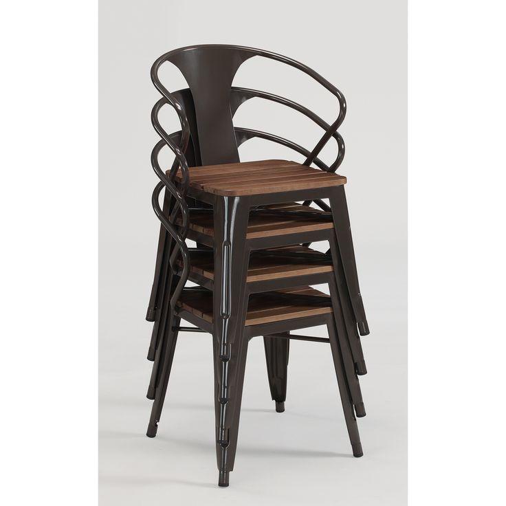Industrial Metal Dining Chairs Eight Industrial Metal ...