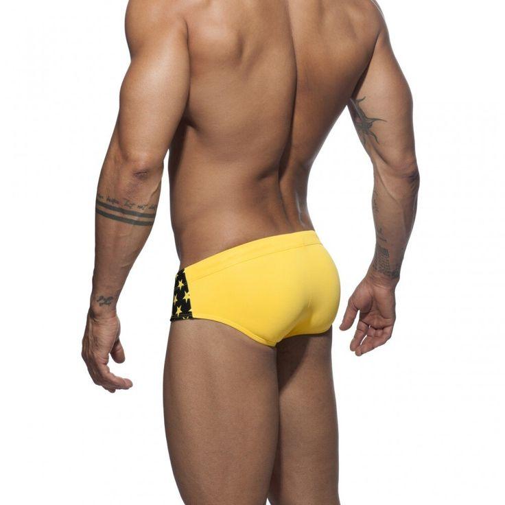Summer Man Swimming Trunks Briefs Star Low-Waist Sexy Man'e Swimwear Beach Bikini Men Swimsuits Quick Dry Male