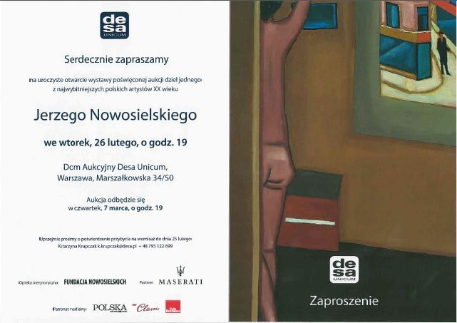 Maserati Polska zostało patronem licytacji i wernisażu prac Jerzego Nowosielskiego, jednego z najlepszych współczesnych malarzy w kraju.