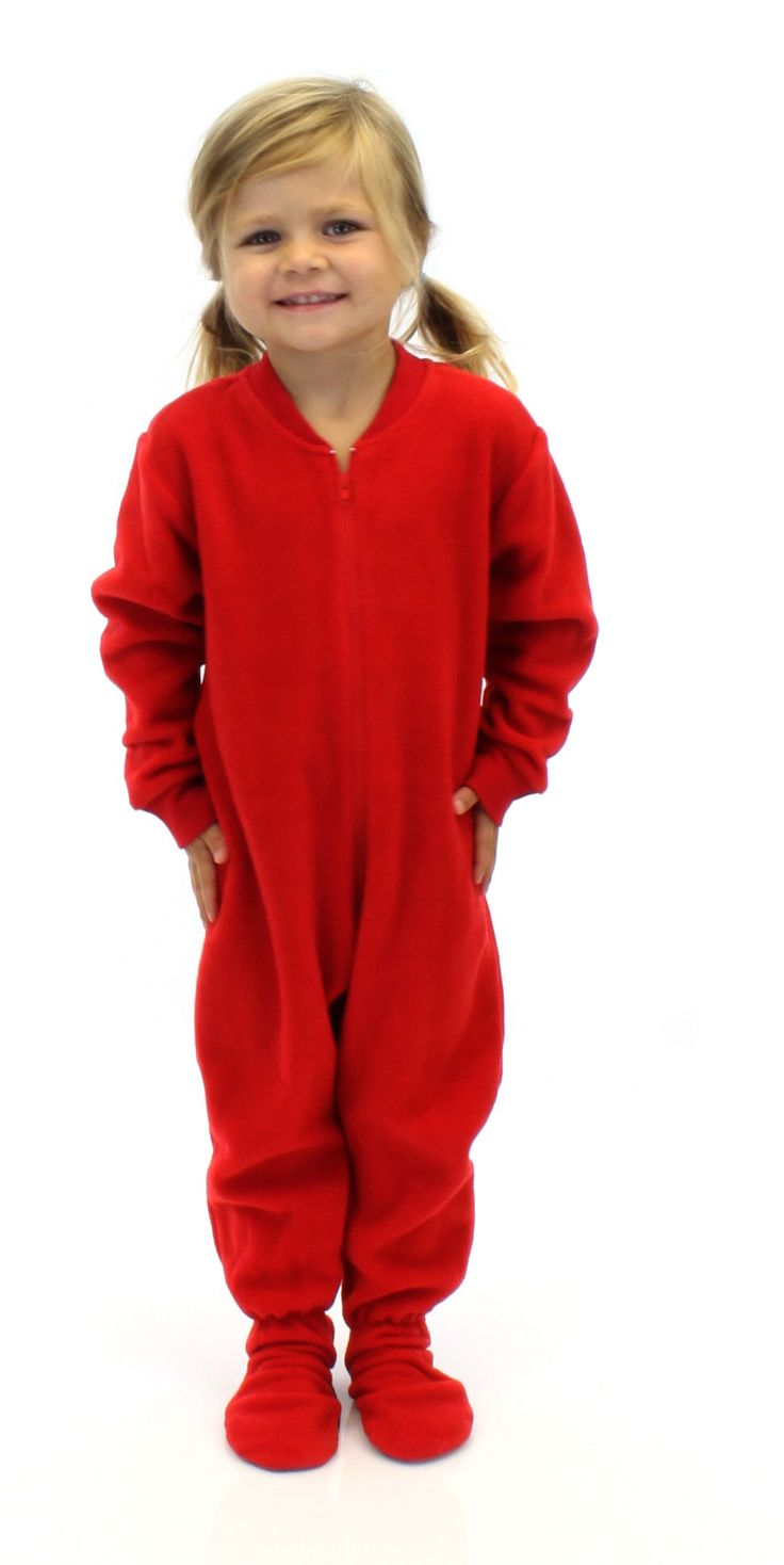 Christmas Footed Pajamas Kids