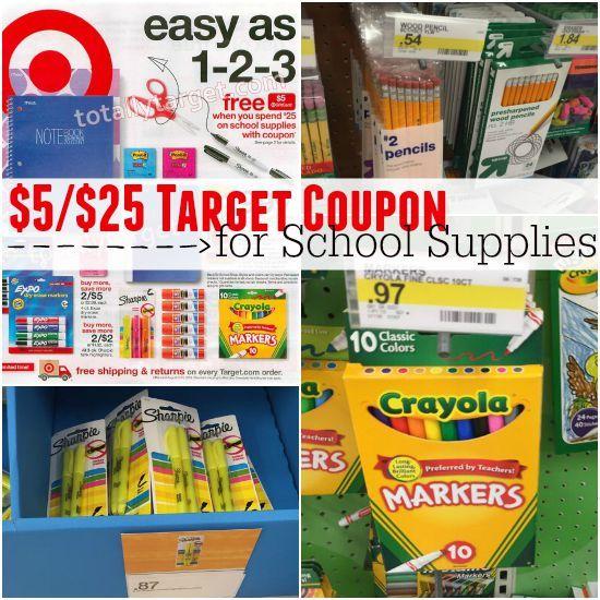 Target School Supplies Coupons