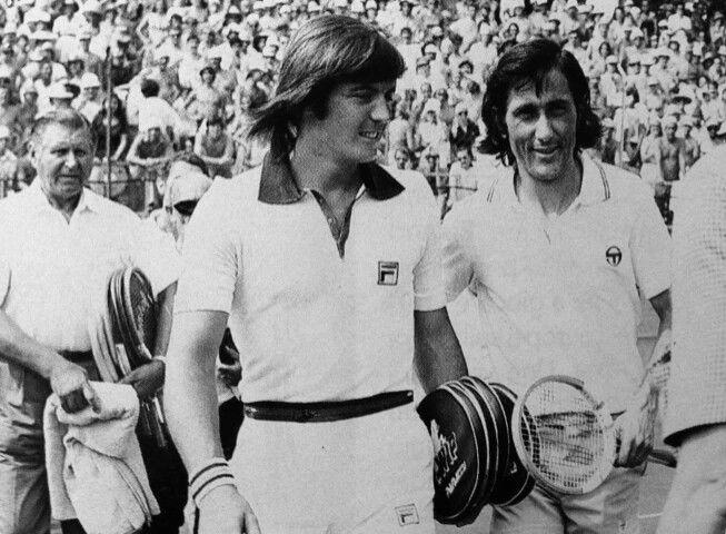 Adriano Panatta e Ilie Nastase - Coppa Davis Roma 1974.