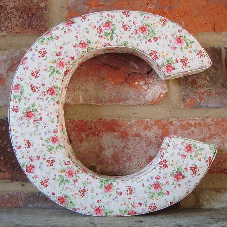 Floral Fabric Wall Alphabet Letters
