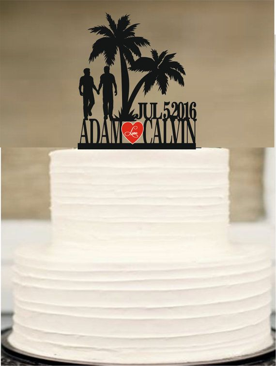 Gay wedding cake topper same sex MR and MR by Customorderhouse