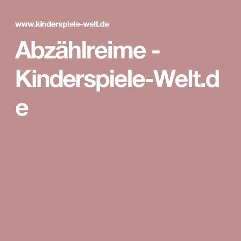 Abzählreime        - Kinderspiele-Welt.de