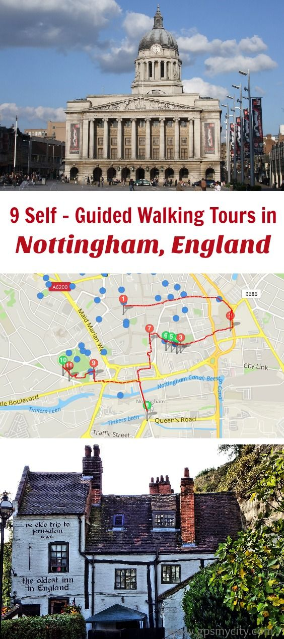 Follow these 9 expert designed self-guided walking tours in Nottingham, England to explore the city on foot at your own pace. Each walk comes with a detailed tour map and together they are the perfect Nottingham city guide for your trip.