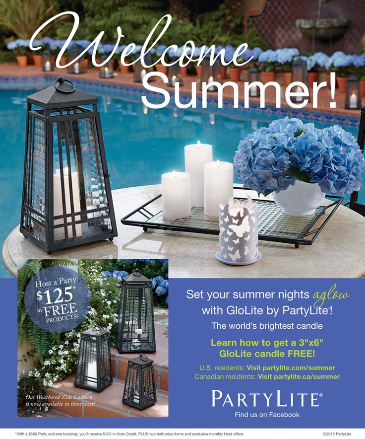 Spotted in the May issue of Martha Stewart Living. www.PartyLite.com/Summer  Check out our website if you are interested in seeing more.  www.partylite.biz/goldenlites