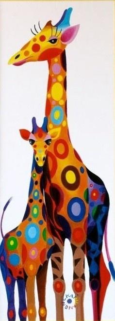 Spot Colored Giraffes
