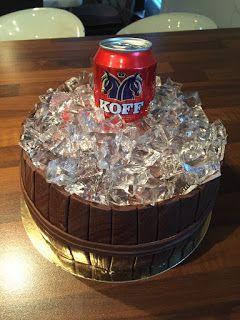 oluttölkkikakku / beer cake