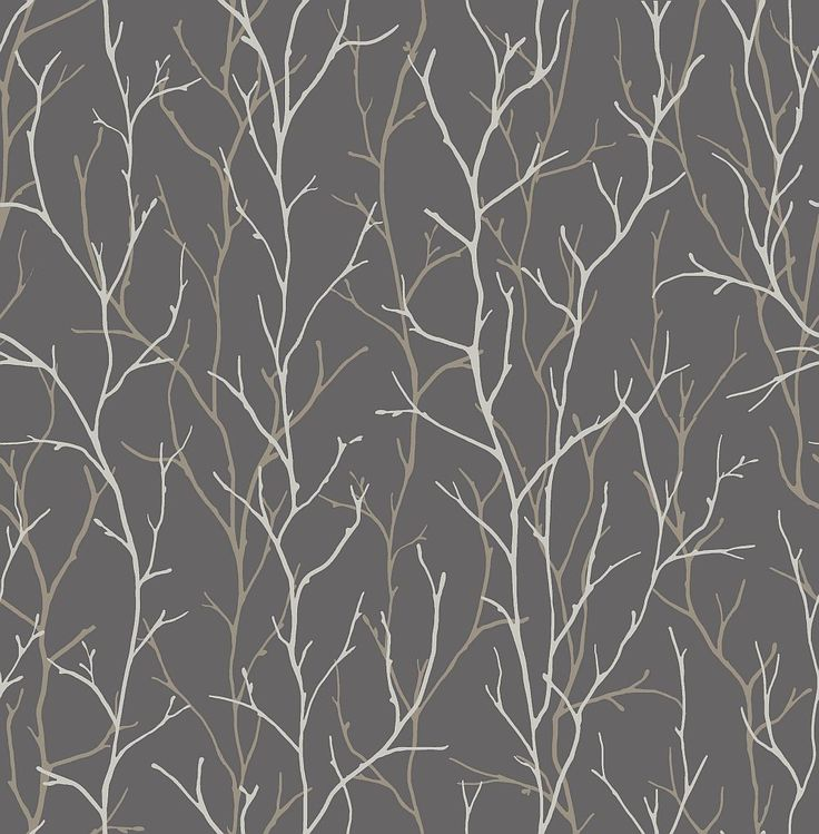 Twig Silver Wallpaper By Iliv