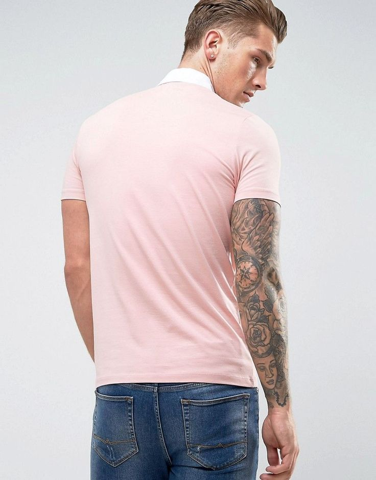 ASOS Muscle Rugby Polo Shirt In Pink - Pink