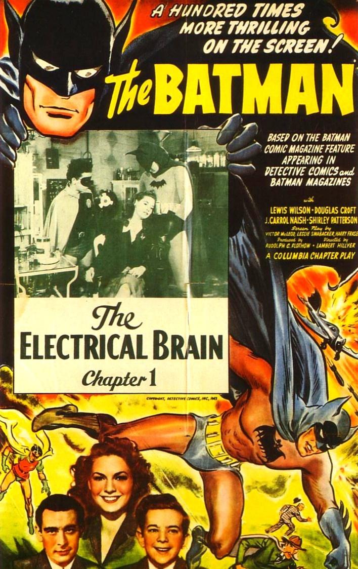 1943 Movie Serial Poster The Electrical Brain Batman