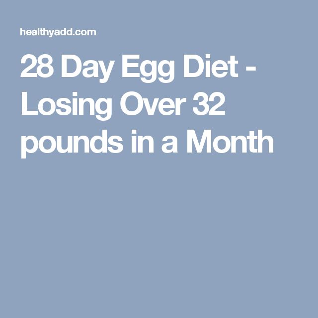 28 Day Egg Diet - Losing Over 32 pounds in a Month