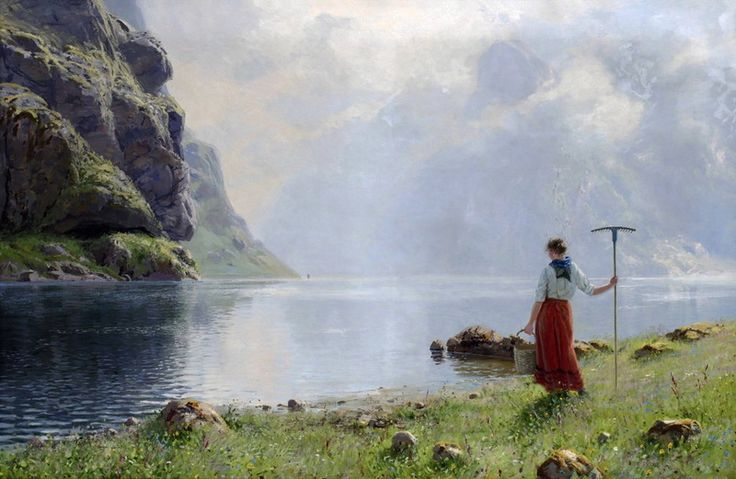 «På stranden ¿av fjorden», 1894.jpg