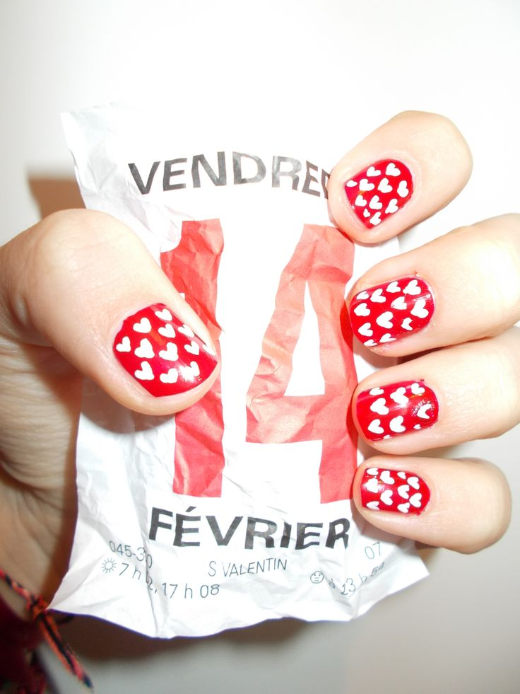 my nail art valentine's day