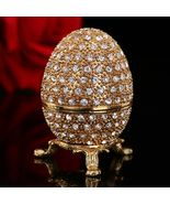 Theme:Mascot Material:Metal Style:Feng Shui Faberge Russia Eggs Trinket Box :trinket box Russia Eggs Jewelry Trinket Box Eggs Jewelry Trinket Box Material:metal crystal Vintage Easter Egg Magnet Metal Crafts Faberge Russia Eggs Jewelry Size:1.6...