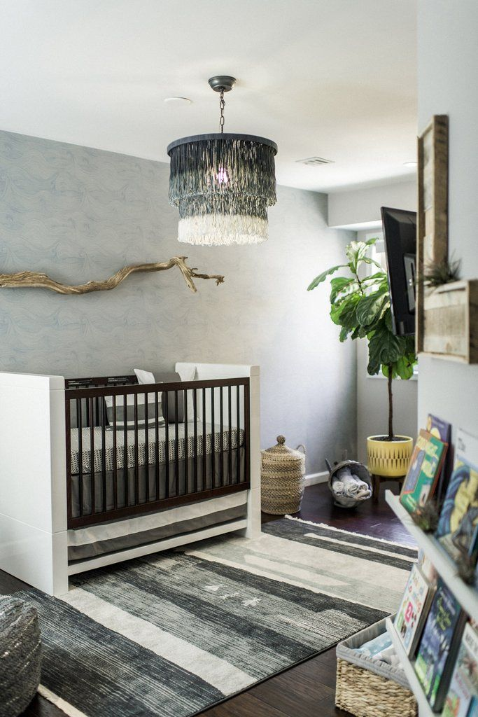 While designing this nursery, my first thought was to create a tranquil sanctuary for my baby to sleep soundly in a sea-inspired spaces washedin the colors o